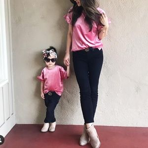 Mommy & Me Matching Velvet Tops